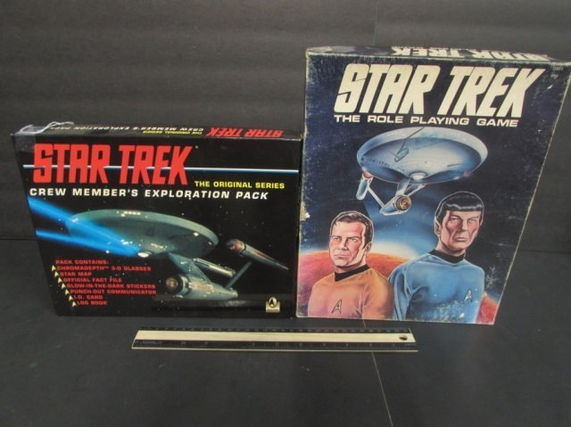 STAR TREK EXPLORATION PACK & ROLE PLAYING GAME BOTH ARE