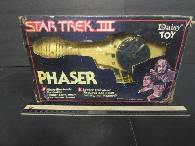 STAR TREK III PHASER NEW IN ORIGINAL PACKAGING, 1984,