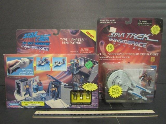 STAR TREK INNERSPACE MINI PLAYSETS (2) BOTH NEW IN