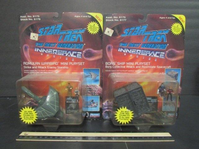 STAR TREK THE NEXT GENERATION MINI PLAYSETS (2) BOTH