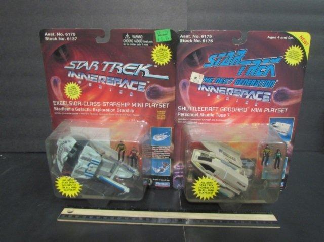 STAR TREK INNER SPACE MINI PLAYSETS (2) NEW IN UNOPENED