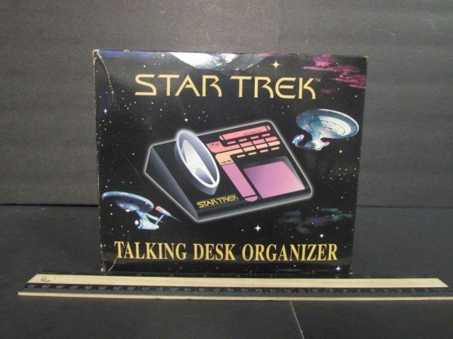 STAR TREK TALKING DESK ORGANIZER NEW IN UNOPENED