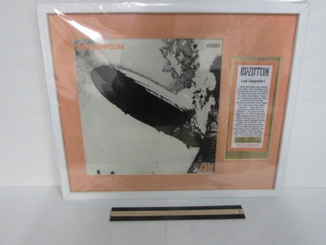 LED ZEPPELIN FRAMED VINYL RECORD ALBUM ART INCLUDES A