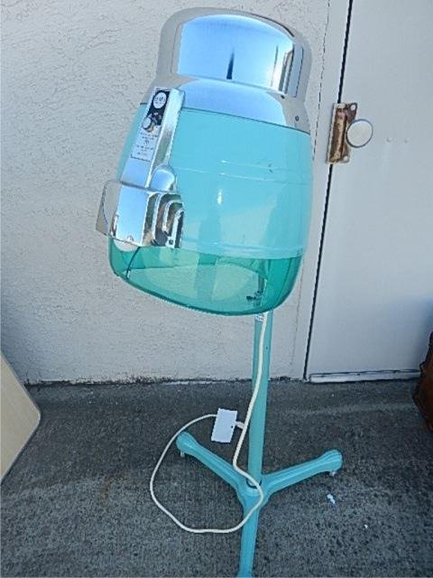 VINTAGE AQUA HAIR DRYER ABOUT 53 INCHES TALL FROM SEARS