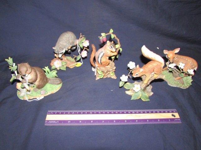 LENOX FOREST ANIMAL FIGURINES (5)