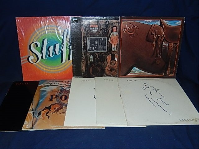 POCO VINYL RECORDS (8) STUFF, FROM THE INSIDE, LIVE,