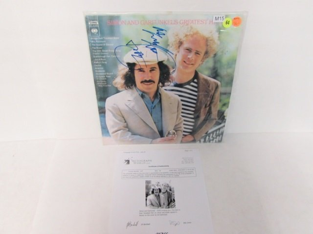 SIMON AND GARFUNKEL SIGNED AUTO. VINYL RECORD INCLUDES