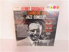 BENNY GOODMAN JAZZ LEGENDS SIGNED VINYL RECORD SIGNED