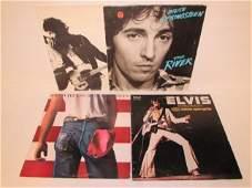 BRUCE SPRINGSTEEN & ELVIN VINYL RECORDS (4)