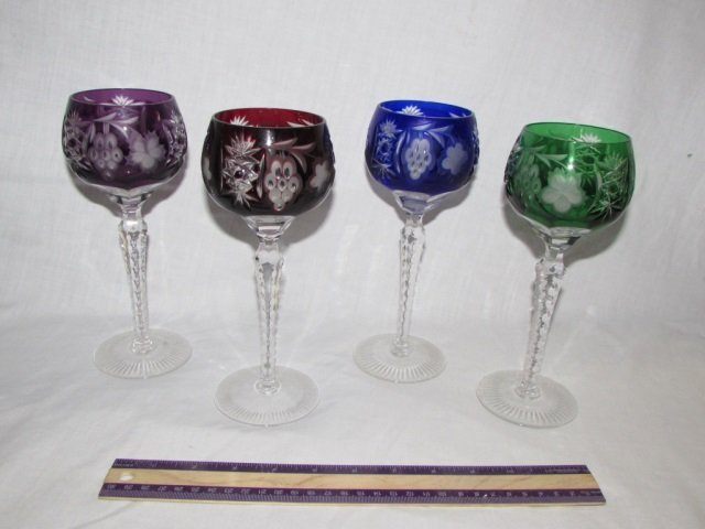 ETCHED CUT TO CLEAR CRYSTAL STEMWARE (4)