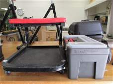 TOOL BOX WITH CONTENTS AND STOOL