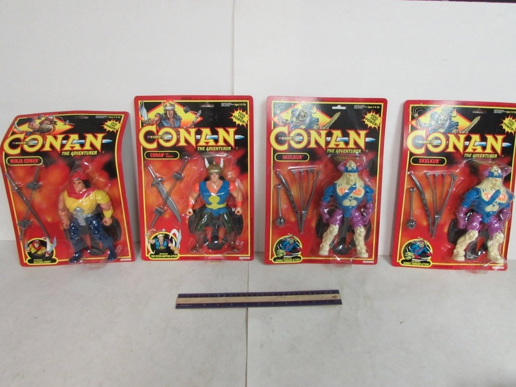1992 CONAN THE ADVENTURER FIGURES (4)