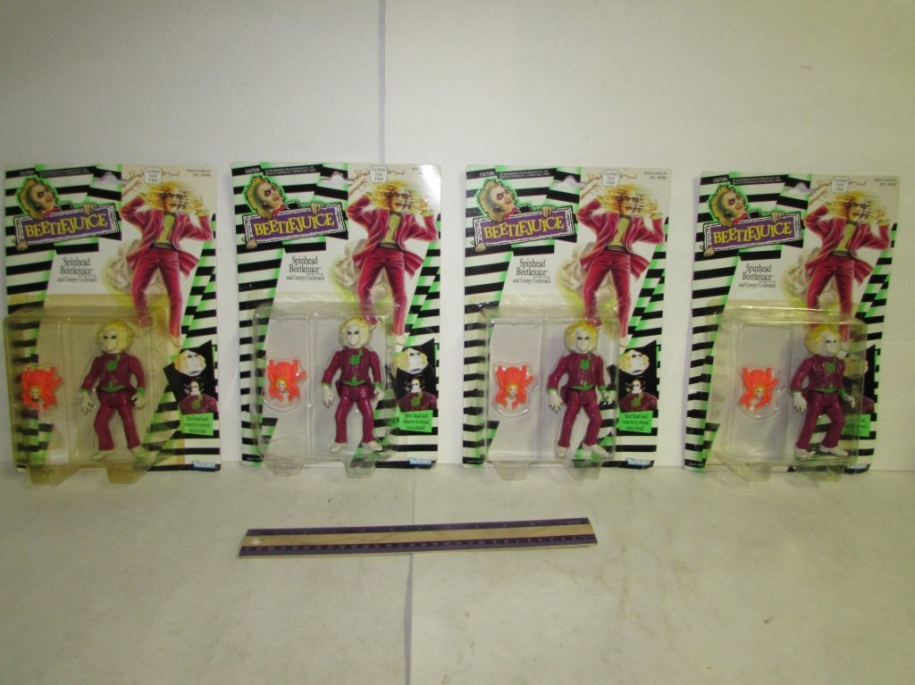 1989 SPINHEAD BEETLEJUICE FIGURES (4)