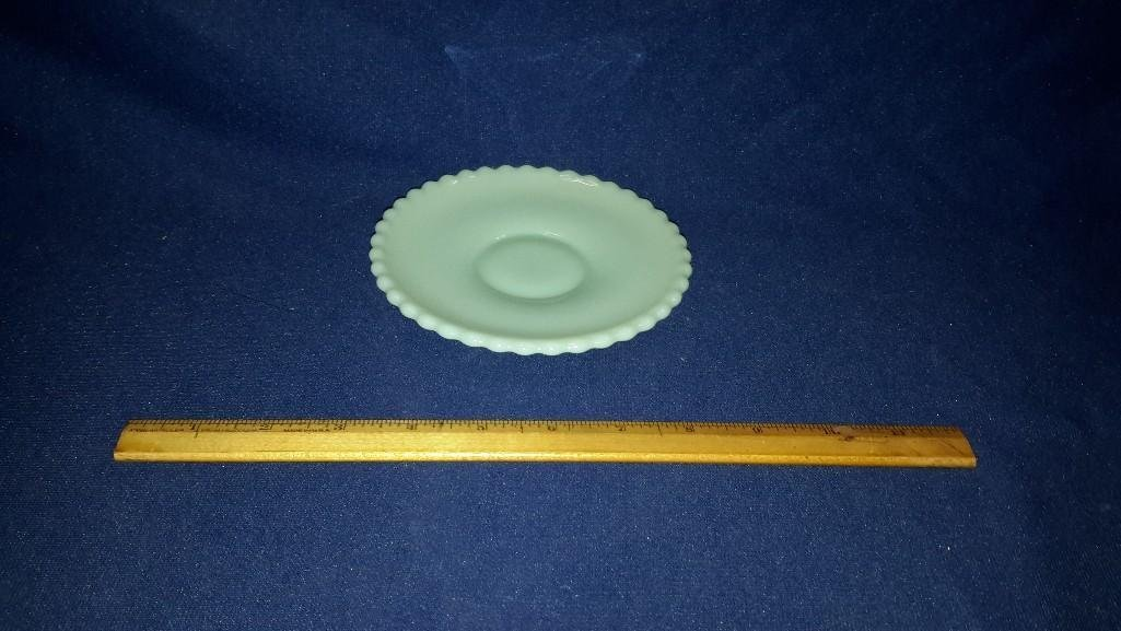 Jadeite Plates, Cream & Sugar - 4