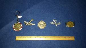 Key Chain Plane Pins and a Money Clip