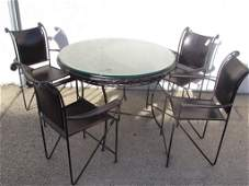 1980 Ralph Lauren Loft Collection Leather Dining Table