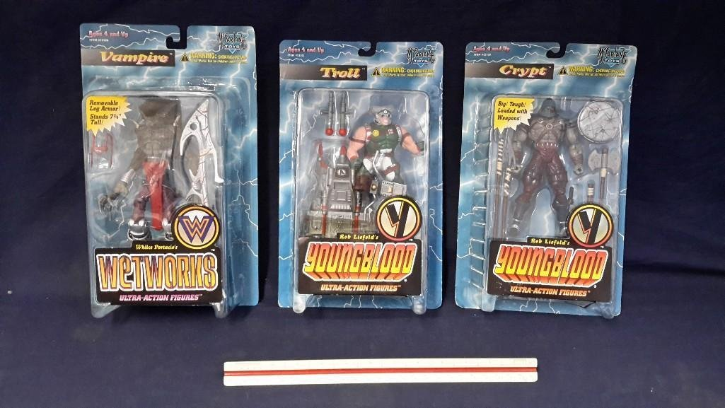 Youngblood Action Figures (3)
