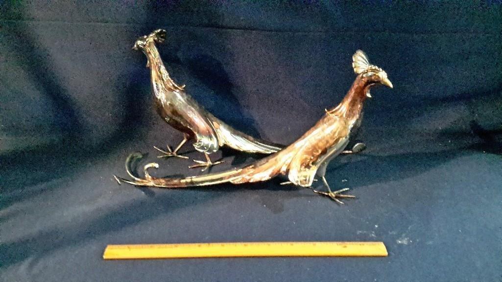 Decorative Metal Peacocks (2)