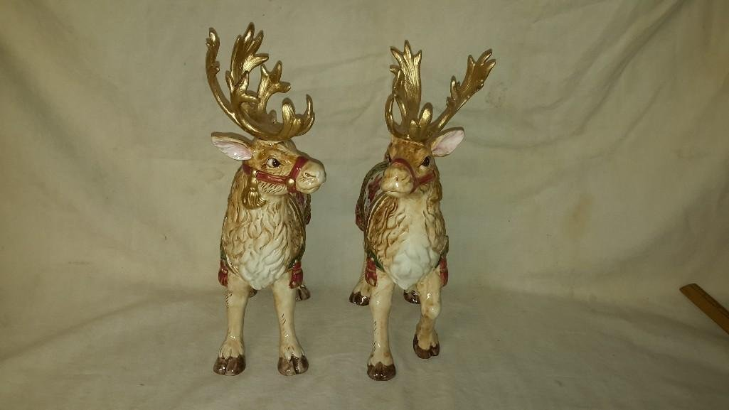 Fitz and Floyd Reindeer Candle Holders (2) - 10