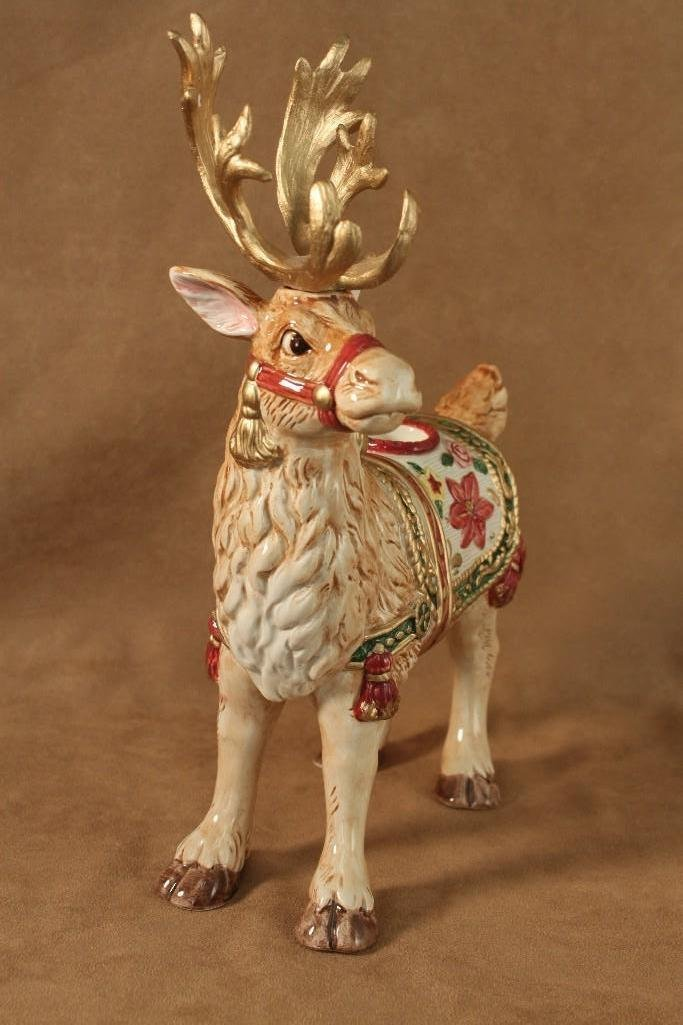 Fitz and Floyd Reindeer Candle Holders (2) - 4