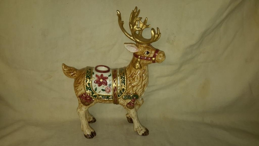 Fitz and Floyd Reindeer Candle Holders (2) - 9