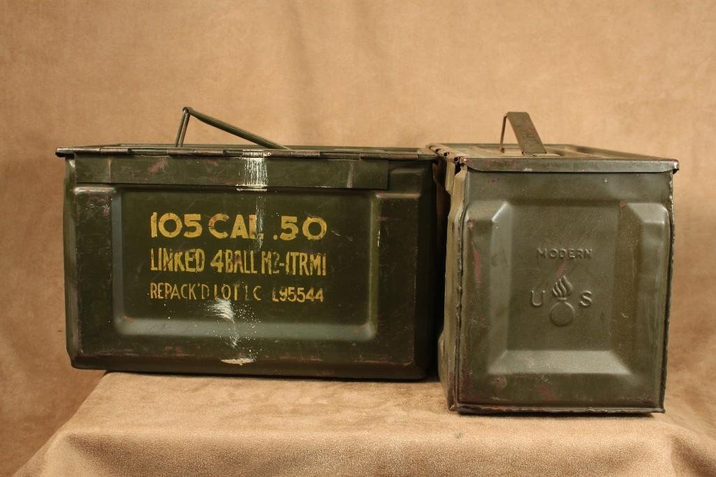 Vintage Military Ammo Boxes (2)
