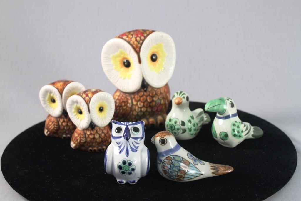 Ceramic Bird Figurines (7)