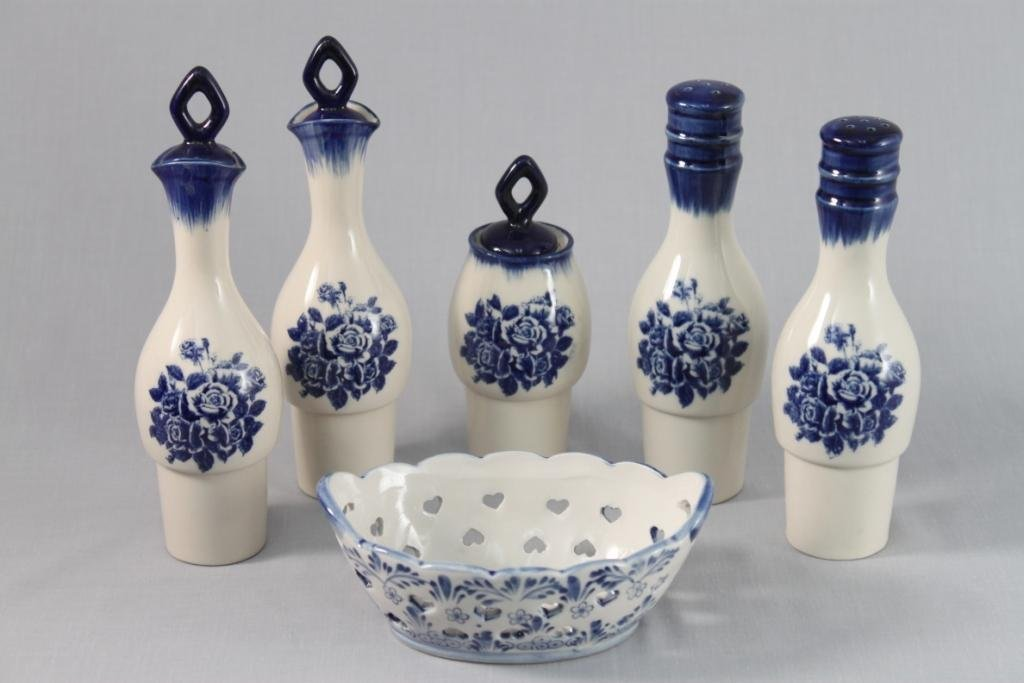 Ceramic Oil and Vinegar Bottles (6)