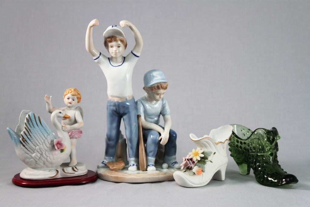 Porcelain Figurines and Shoes (4)