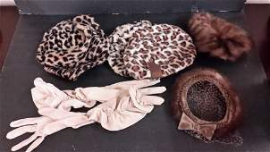 Collection of Vintage Hats and Gloves