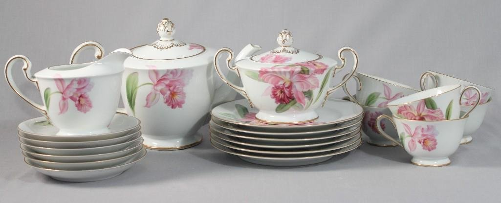 Noritaker Hand Painted Floral Design Tea Set(21)