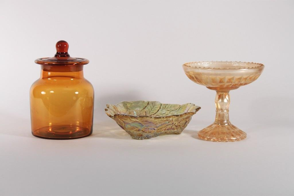Glass Bowls and Jar (3)