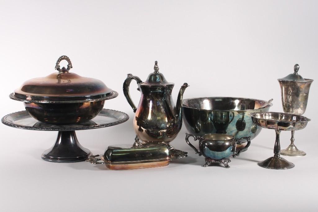 Silver Plate Service ware (10)