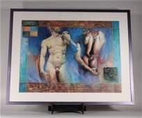 Meseldzija Greek Style Nude Male Print