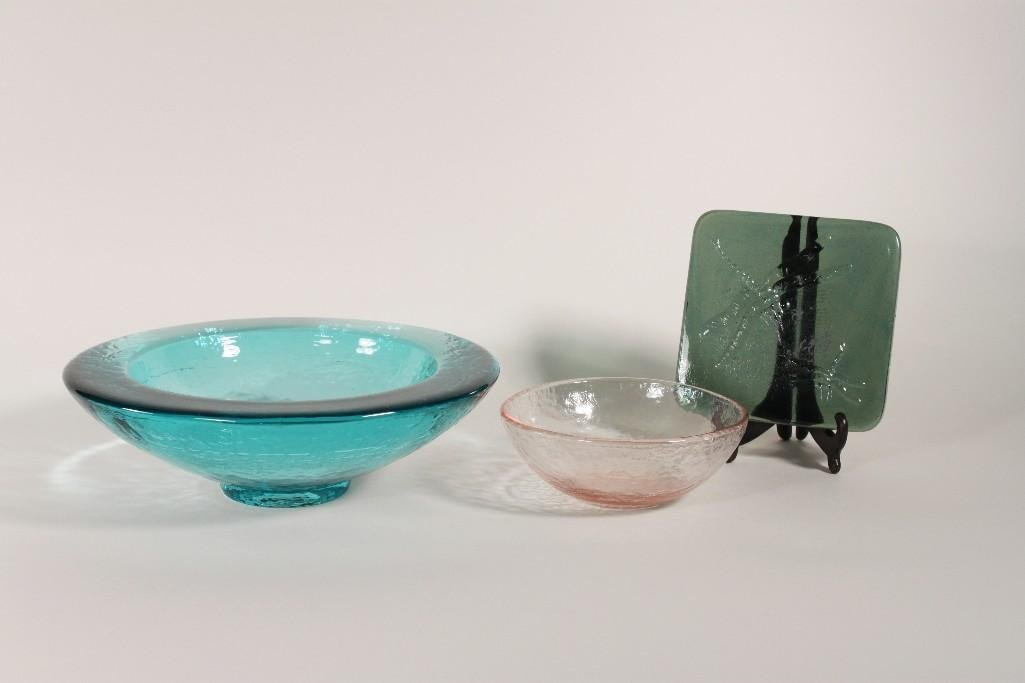 Art Glass Bowls (3)