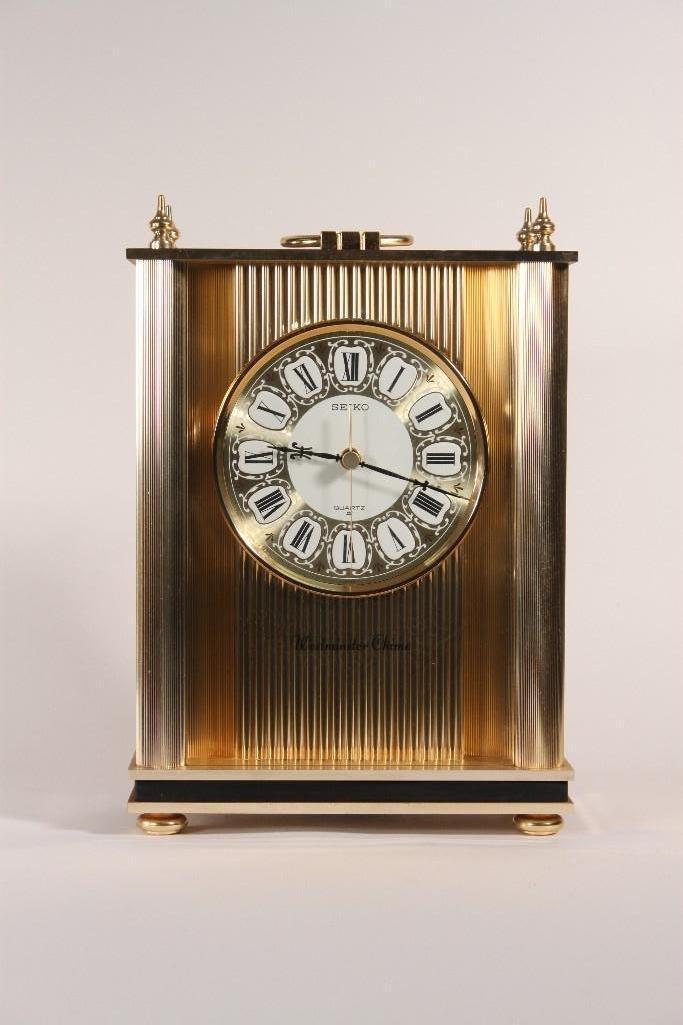 Modern Westminster Chime Seiko Quartz Mantel Clock