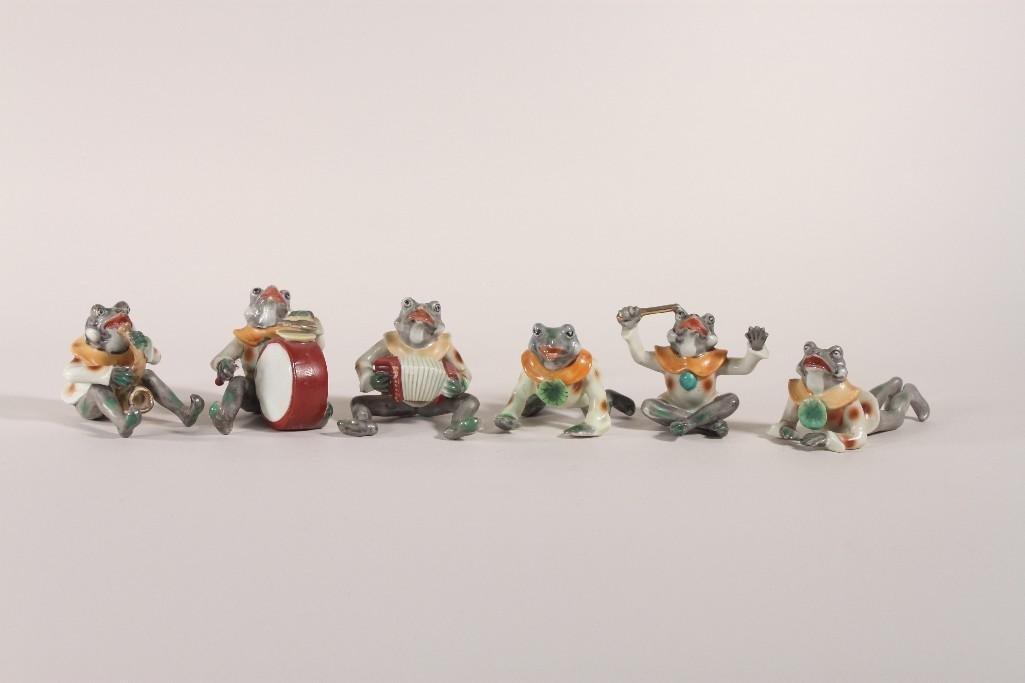 Occupied Japan Frog Figurines (6)