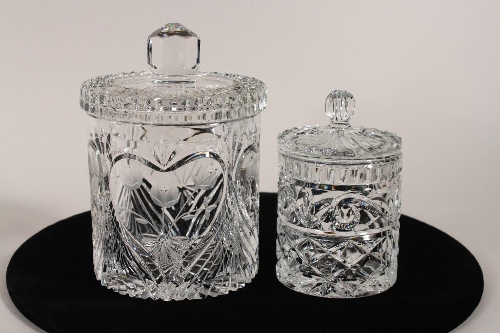 Crystal Lidded Jars (2)
