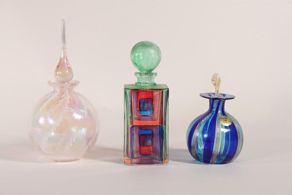 Art Glass Perfume Bottles (3)