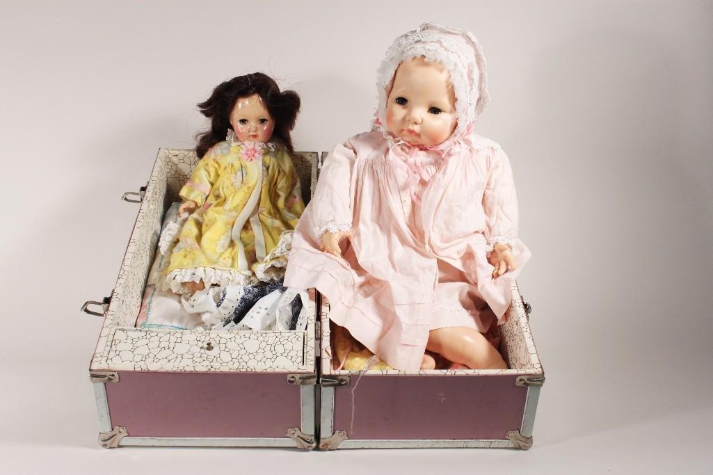Vintage Dolls in Trunk