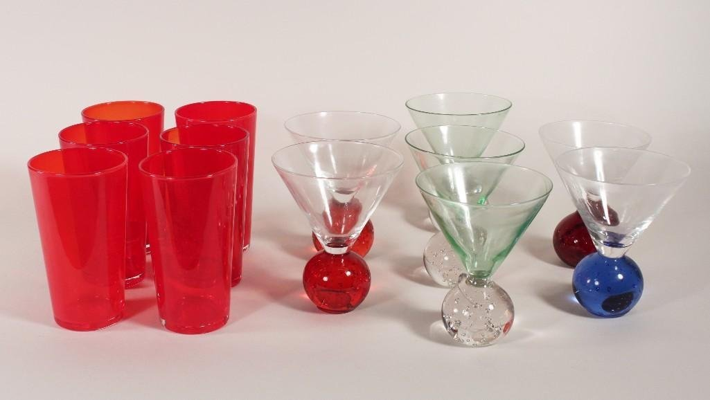 Clear and Colored Glass Barware (13)