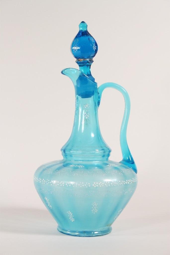 Vintage Blue Glass Decanter