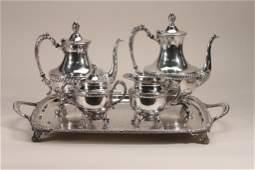 Glastoneury Silver Plate Tea Set