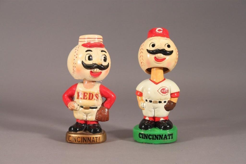 Vintage Cincinnati Reds Bobbleheads/Nodders (2)
