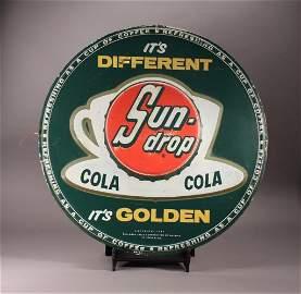 1954 Sun Drop Wall Advertisement Tin