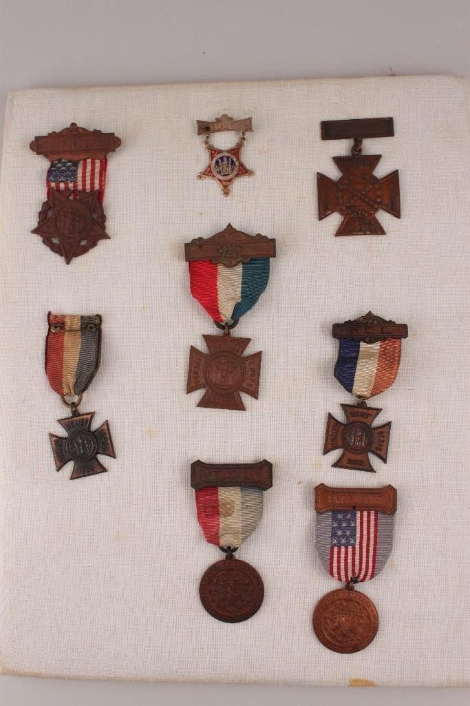 Civil War Veteran's Medals (8)