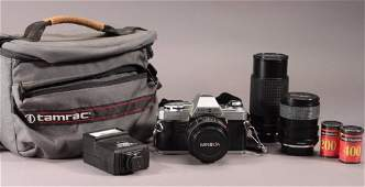 Minolta Film Camera With Lens and Carrying Case