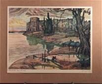 Signed River Side Nicholas Hornyansky Print