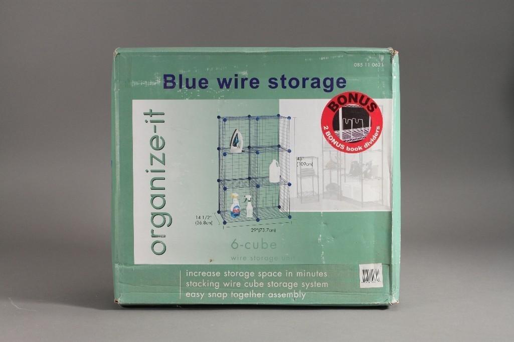 Organize It Blue Wire Storage Unit