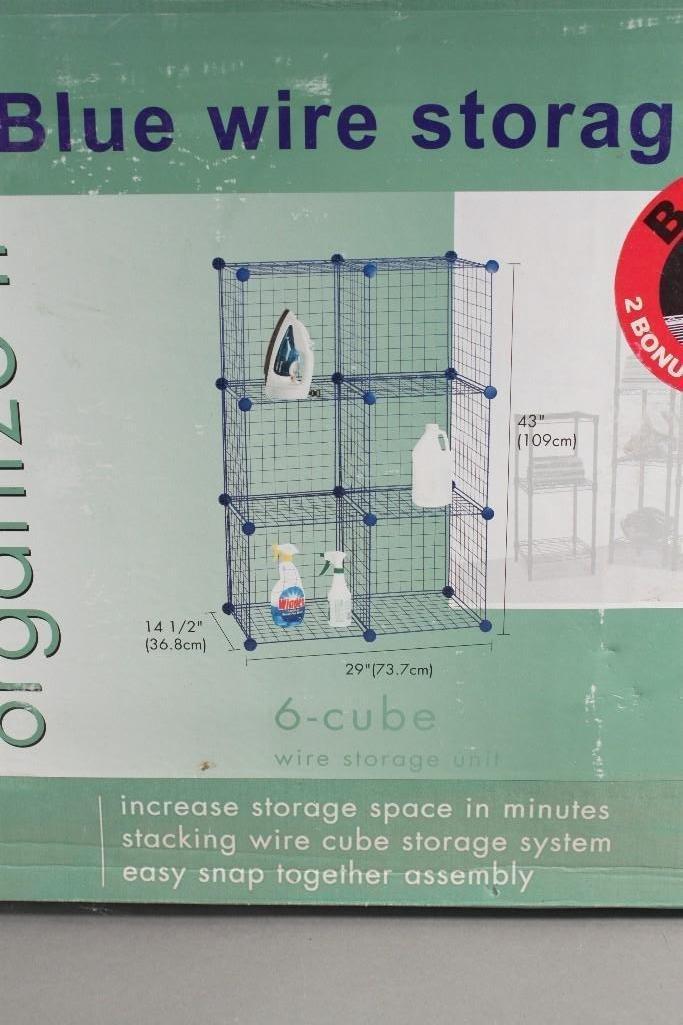 Organize It Blue Wire Storage Unit - 2